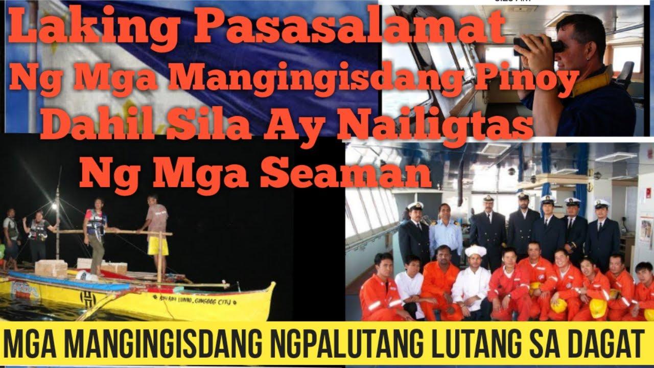 Seaman Nailigtas Ang Mga MAngingisdang Pinoy Matapos Lumubog Ang Bangka Nagpalutang Lutang Sa Dagat